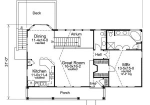 Atrium Home Plans Economical atrium Ranch Home Plan 57239ha 1st Floor
