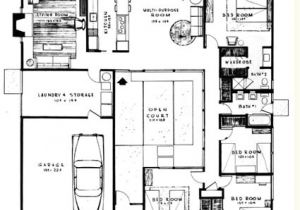 Atrium Home Plans Eichler Home Design Plans House Plans Home Designs