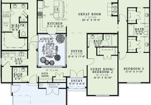 Atrium Home Plans Interior atriumideas Floors Plans European House Plans