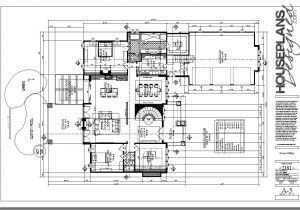 Autocad Plans Of Houses Dwg Files House Floor Plan Cad File