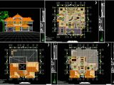 Autocad Plans Of Houses Dwg Files House Plan Autocad Drawing Bibliocad Architecture Plans