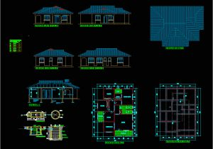 Autocad Plans Of Houses Dwg Files House Plan Three Bedroom In Autocad Download Cad Free