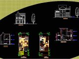 Autocad Plans Of Houses Dwg Files Row House Dwg Block for Autocad Designs Cad
