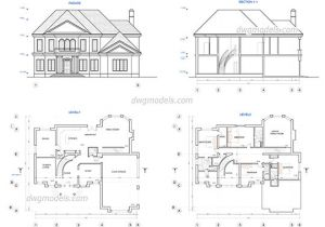 Autocad Plans Of Houses Dwg Files Single Family House Free Cad Blocks Dwg Files Download