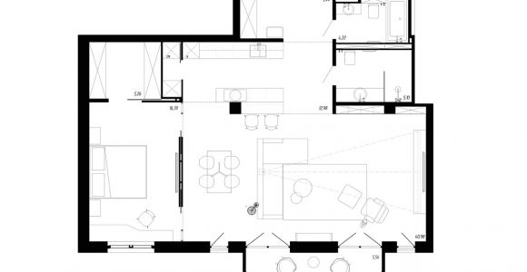 Bachelor Pad House Plans A Beautiful One Bedroom Bachelor Apartment Under 100