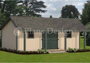 Barn House Plans with Porches 16 39 X 24 39 Guest House Storage Shed with Porch Plans