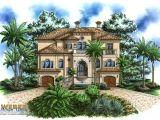 Beach Front Home Plans Beach House Plan Coastal Mediterranean Style Home Floor Plan