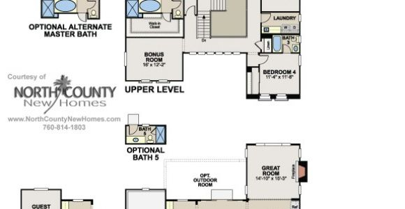 Bella Vista Homes Floor Plans Floor Plan 1 at Bella Vista In San Elijo Hills New Homes