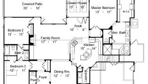 Best Home Plan Country One Story House Plan