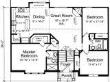 Bi Level Home Plans with Garage Bi Level Home Plan 39197st 1st Floor Master Suite