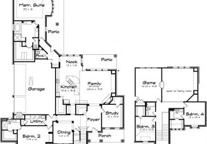 Big House Floor Plans 2 Story Two Story Large Family Home Plans with Game Room