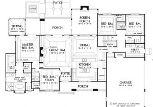 Big Single Story House Plans Large One Story House Plan Big Kitchen with Walk In