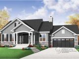 Bungalow House Plans with Basement and Garage W3236 V1 Craftsman Bungalow Open Living Concept Two