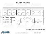 Bunk House Building Plans Custom Modular Building Floor Plans