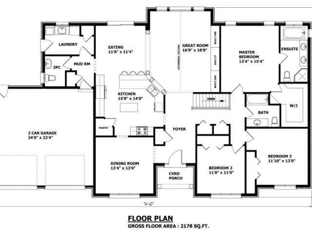 Canadian Home Designs Floor Plans Canadian Home Designs Custom House