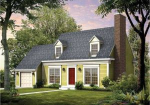 Cape Cod Homes Plans Cape Cod House Style with Garage Designed with Green Wall