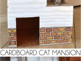 Cardboard Cat House Plans Cardboard Cat Mansion or A Use for Amazon Prime Boxes