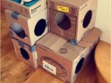 Cardboard Cat House Plans Diy Cat House Made Of Cardboard Boxes Cats