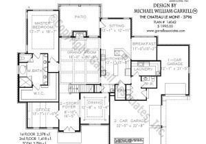 Chateau Homes Floor Plans Chateau Le Mont 3796 House Plans by Garrell associates