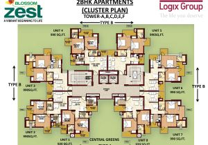 Cluster Home Floor Plans Blossom Zest Sector 143 Noida Studio and 2bhk Apartments