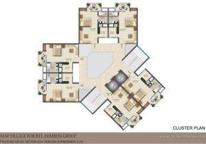 Cluster Home Floor Plans Iitl Nimbus Palm Village Sector 22d Greater Noida
