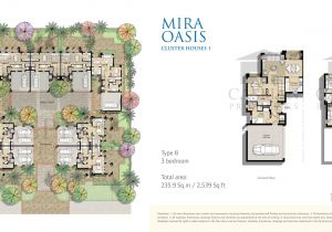 Cluster Home Floor Plans Reem Mira Oasis Floor Plans