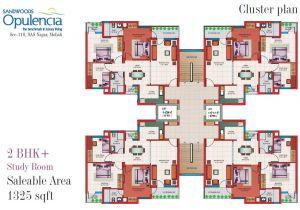 Cluster Home Floor Plans Sandwoods Opulencia Flats Mohali 2 Bhk 3 Bhk 4 Bhk Ready