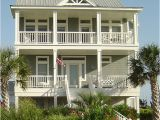 Coastal Home Plans On Pilings Porches Cottage Standard Piling Foundation with Side