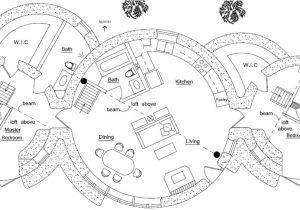 Cob Home Floor Plans Round House Earthbag House Plans