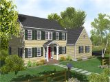 Colonial Home Plan Two Story Colonial House Plans House Design Plans