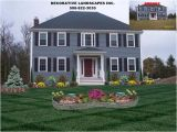 Colonial Home Plans Massachusetts Colonial Home Front Yard Landscape Design attleboro Ma