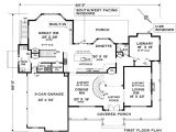 Colonial Style Homes Floor Plans Five Bedroom Colonial House Plan