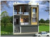 Commercial Home Plans Residential Cum Commercial Elevation 3d Front View Design