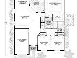 Concrete Block Homes Floor Plans California Style Home Plan 3 Bedrms 2 Baths 1453 Sq