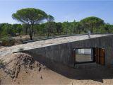 Concrete Home Plans Designs Concrete House Buried Under Artificial Sand Dunes Modern