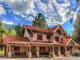 Concrete Log Home Plans Arlee Montana Residence Everlog Systems