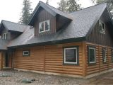 Concrete Log Home Plans Bull Lake Montana Cabin Everlog Systems