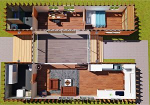 Container Homes Design Plans Sch15 2 X 40ft Container Home Plan with Breezeway Eco