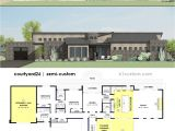 Contemporary Floor Plans Homes Contemporary Side Courtyard House Plan 61custom