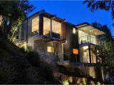 Contemporary Hillside Home Plans Contemporary Hillside Homes Design Night Lighting