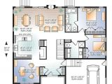 Contemporary Open Floor Plan House Designs W3280 V1 Modern Home Design Master Ensuite Open Floor