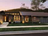 Contemporary Prairie Style Home Plans Front Rendering Rambler Would Have to Add A Finished