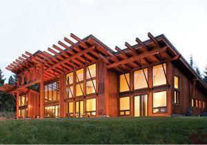 Contemporary Timber Frame Home Plans Mountain Modern A Contemporary Timber Home