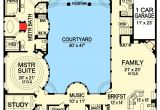 Courtyard Homes Plans Luxury with Central Courtyard 36186tx Architectural