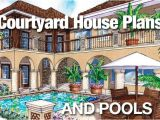 Courtyard Pool Home Plans Courtyard House Plans and Pools Sater Design Collection