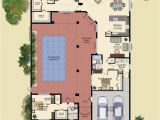 Courtyard Pool Home Plans U Shaped House Plans with Central Courtyard 4 Swimming