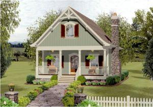 Cozy Cottage Home Plans Cozy Cottage with Bedroom Loft 20115ga Architectural