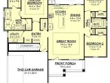 Craftsman House Plans with Open Floor Concept Home Plan Bungalow Open Concept Floor Plans Open Space
