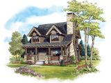 Craftsman Log Home Plans Cabin Craftsman Log House Plan 43212