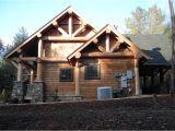 Craftsman Log Home Plans Cabin Craftsman Log House Plan 43214